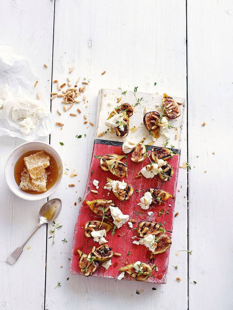6th Recipe of Christmas - Figs with pine nuts & goat's curd