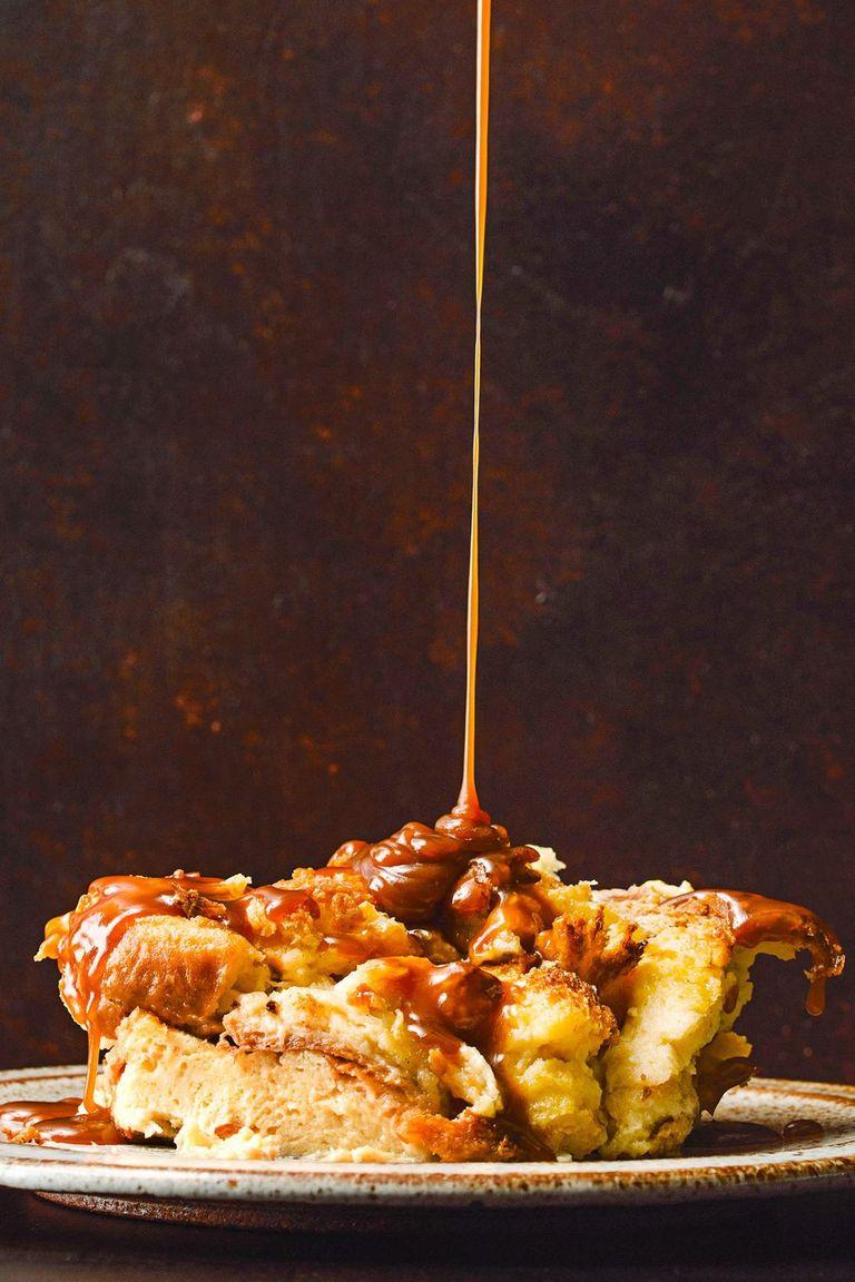 Brioche Bread Pudding with Bourbon-Caramel Sauce
